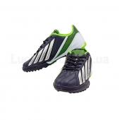 Обувь футбольная сороконожки подростковая Adi zero OB-3395 32р Черный/Салатовый