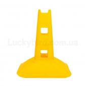 Фишка спортивная с отверстиями для штанги 32см C-7159 Желтый