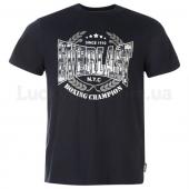 Everlast Printed T Shirt Mens L Navy