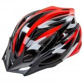 Велошлем кросс-кантри с механизмом регулировки HY-032 M Красный/Черный