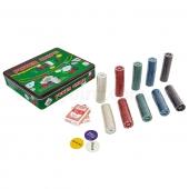 Покерный набор в метал. коробке IG-3006 500фишек
