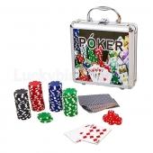 Набор для покера в алюминиевом кейсе IG-4392 100 фишек без номинала