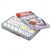 Домино настольная игра в метал. коробке IG-5010FA