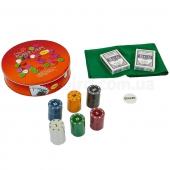 Покерный набор в метал. коробке IG-6617 120фишек