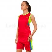 Lidong Форма баскетбольная женская LD-8295W L Красный