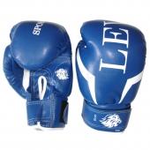 Lev Перчатки боксёрские (Кожзам) 6Oz Синие