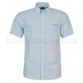 Pierre Cardin Мужская рубашка с коротким рукавом L Wht/Blu Stripe