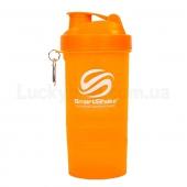 Smart Shake Шейкер 2-х камерный Slim FI-6388 (400+100мл) Оранжевый