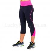 VSX Бриджи для фитнеса и йоги CO-6417 S-M Черный/Розовый