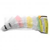 ZEL Воланы для бадминтона пластиковые (6шт) BD-2104-6