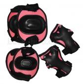 ZEL Защита детская наколенники, налокотники, перчатки ET-1034 Розовый