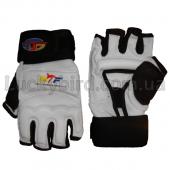 ZEL Перчатки для тхэквондо WTF BO-2310 Белый XS